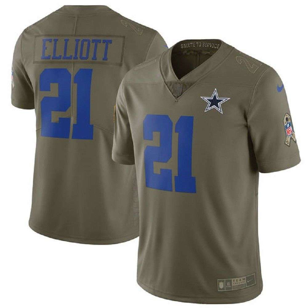new arrival b742c 80316 Nike NFL Salute to Service Dallas Cowboys Ezekiel Elliott Jersey