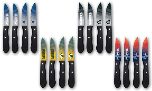 Team Logo Barbecue Steak Knives NFC and AFC East